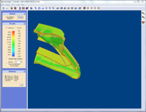 3D wall thickness analysis